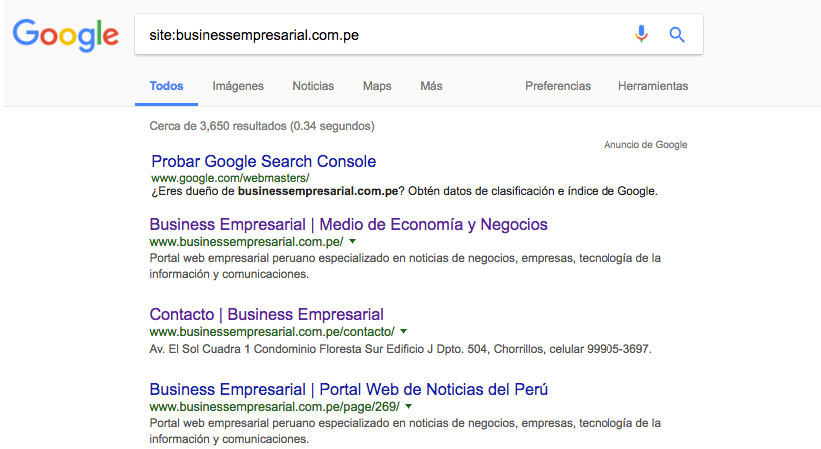 business empresarial google