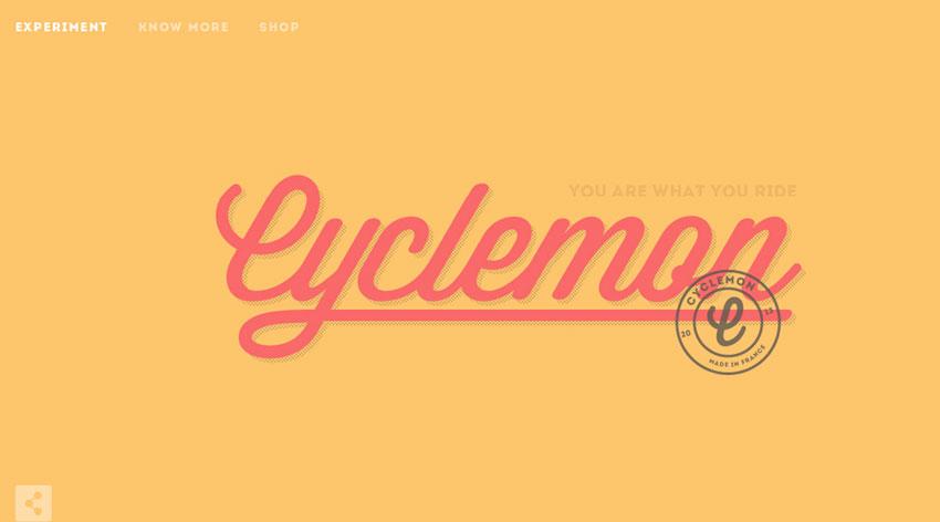 cyclemon diseño web Minimalista