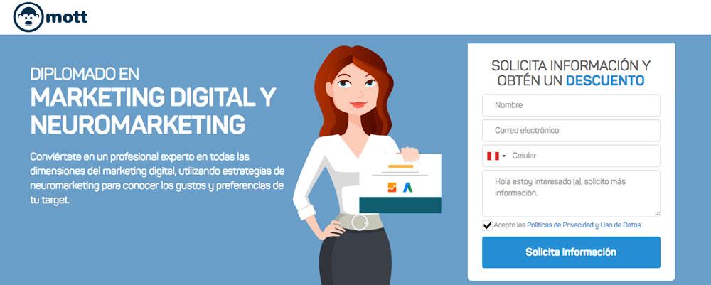 diplomado marketing digital neuromarketing mott peru