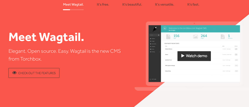 wagtail herramienta web cms