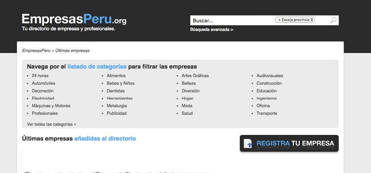 empresasperu.orgdirectorio de empresas local