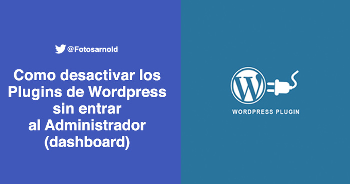 desactivar plugins wordpress