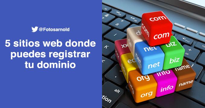 sitios web donde registrar dominio