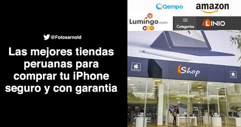 mejores tiendas peruanas comprar iphone