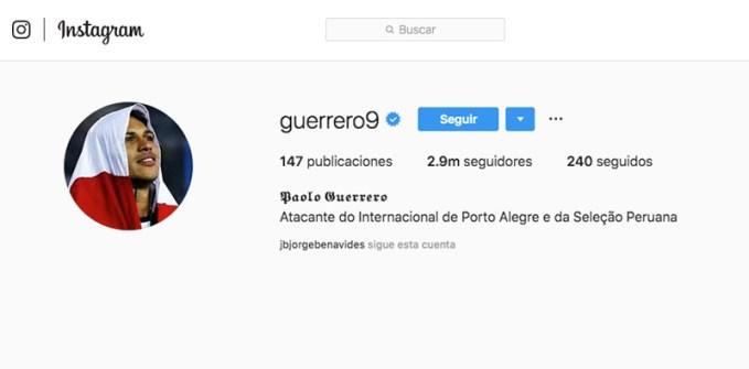 Paolo Guerrero Influencer peruano
