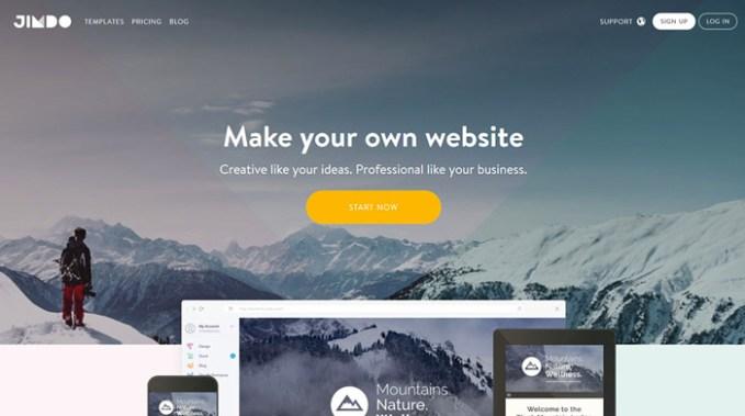 jimdo portal para crear paginas web