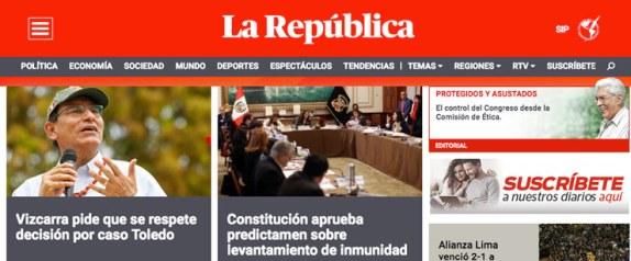 la republica portal web noticias peru