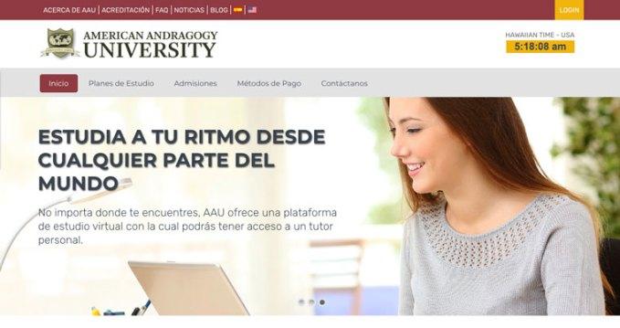 american andragogy university - universidad online a distancia