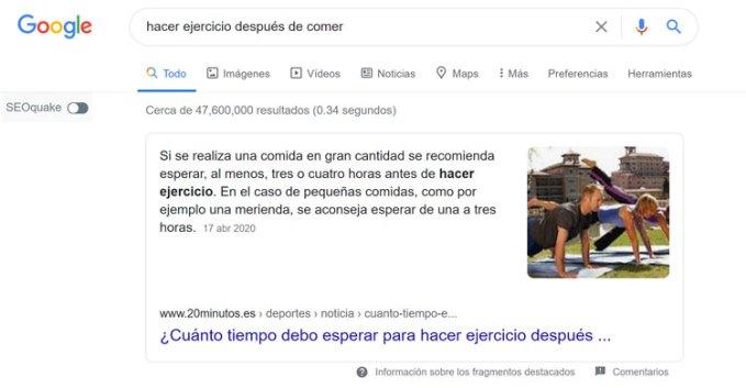 intencion busqueda exacta google