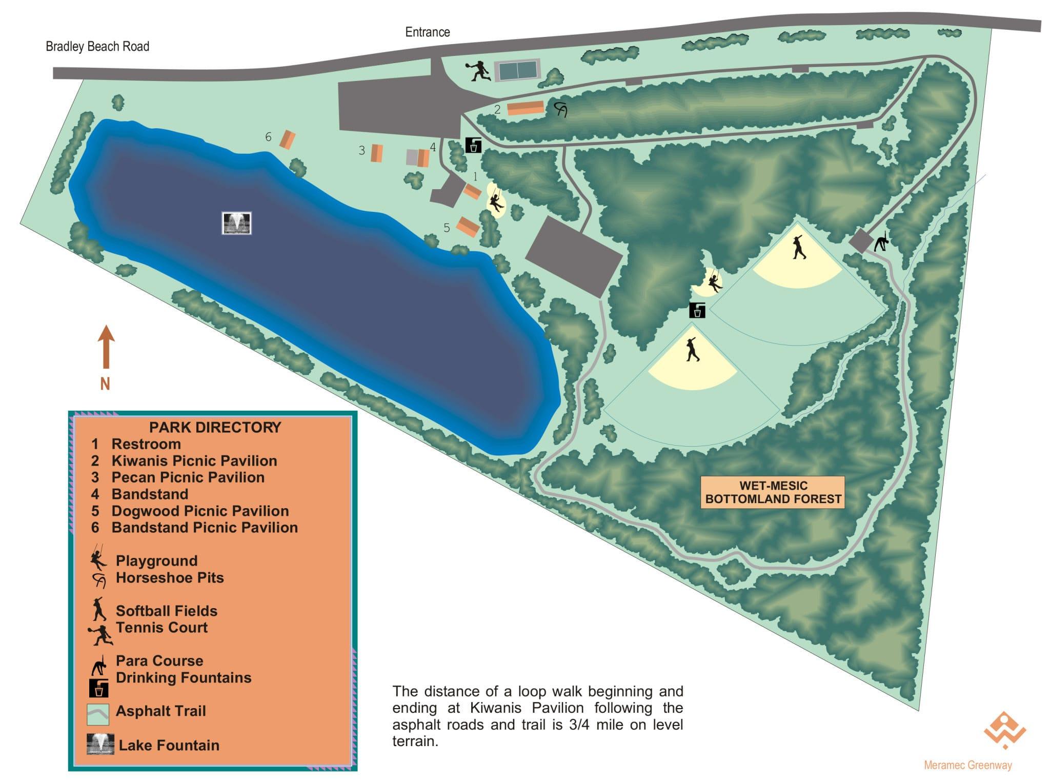 Arnold City Park map