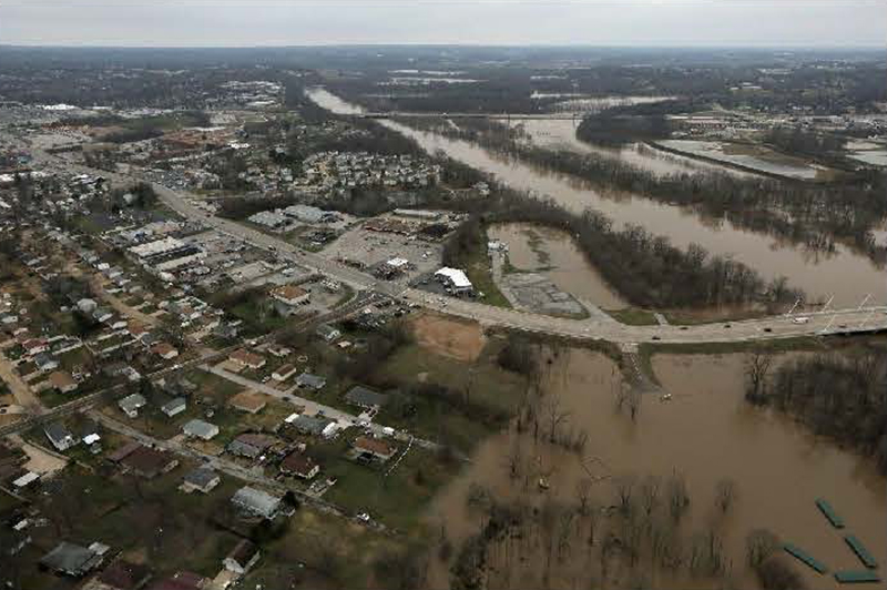 Overview of Arnold flooding area