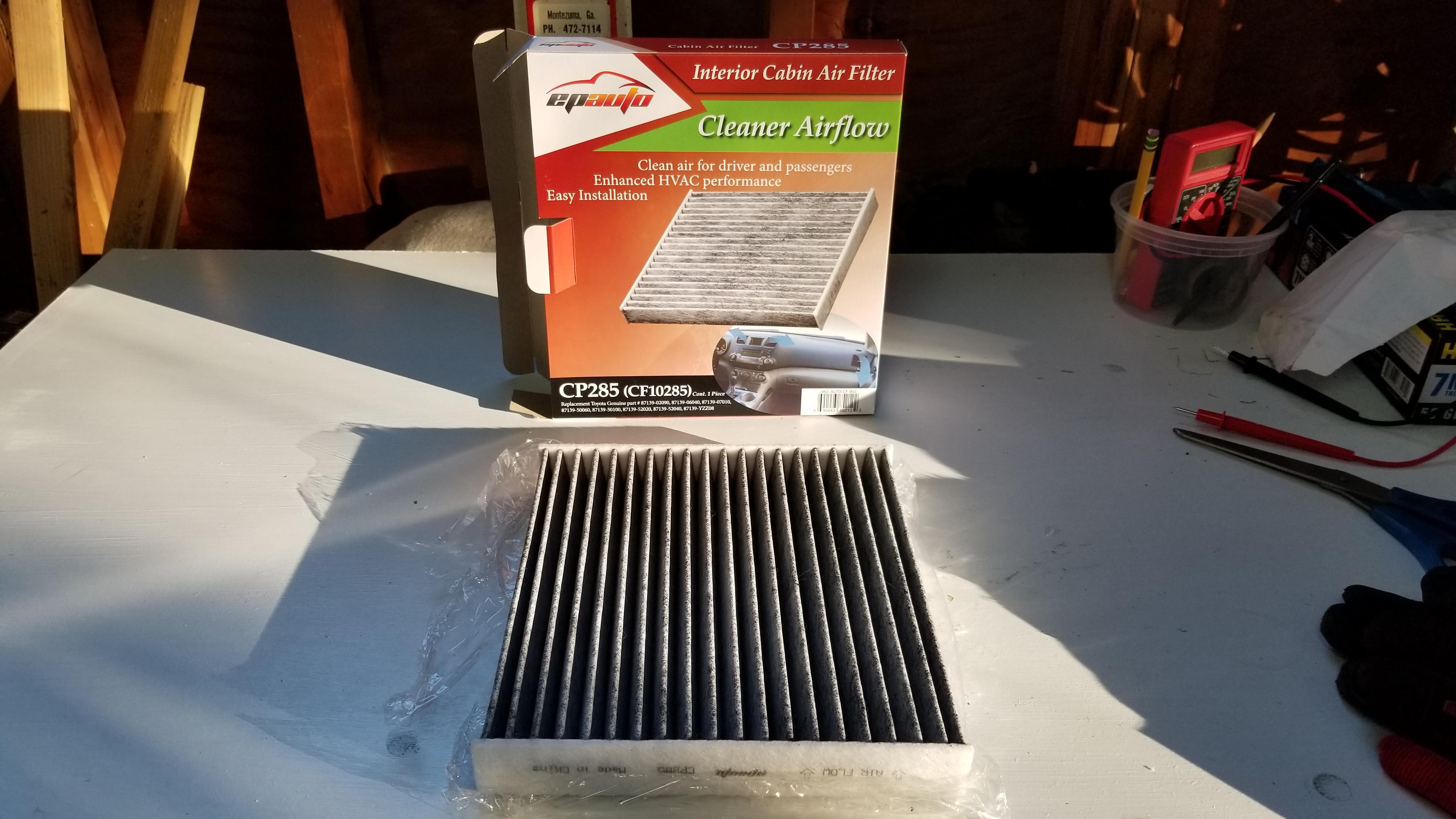 Bon Replace 2010 Prius Cabin Air Filter