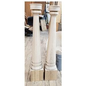 Custom Wood Newels H Arnold Wood Turning Inc | Exterior Wood Newel Posts | Porch | Banister | Stair Railing | Oak | Cap
