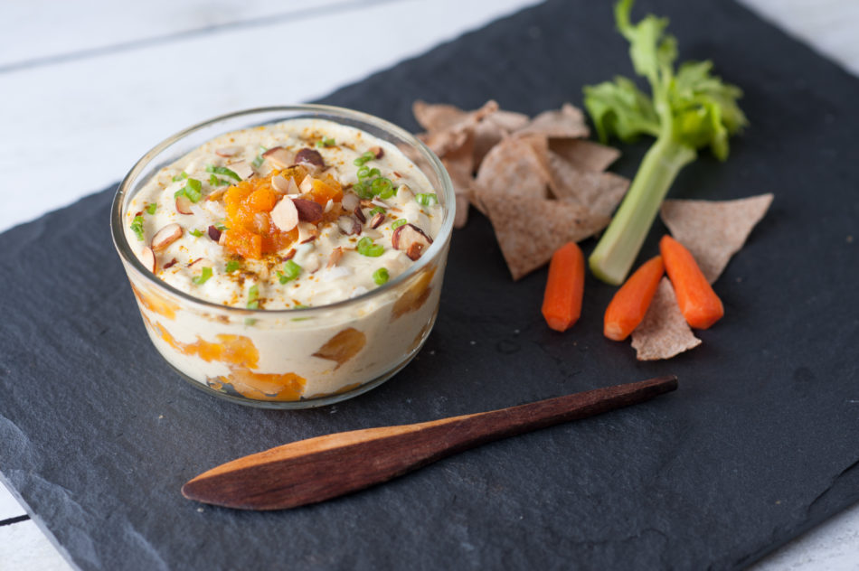 curry apricot strained yogurt dip greek