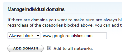 Bloquear dominio en OpenDNS