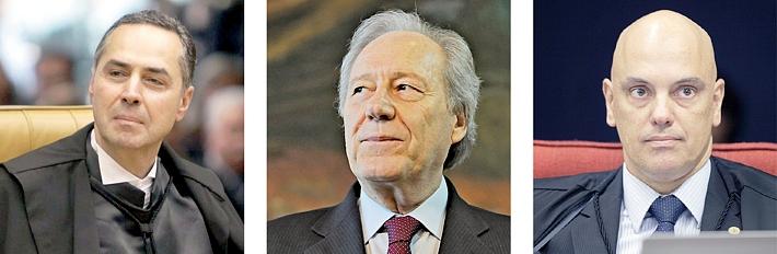 Ministro Luís Roberto Barros: arguição no Doutorado; Ministros Lewandowsky e Alexandre Moraes: também examinados por Clève