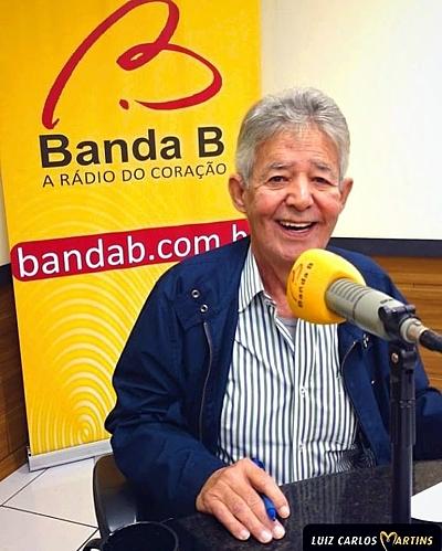 Luiz Carlos Martins, na Rádio Banda B