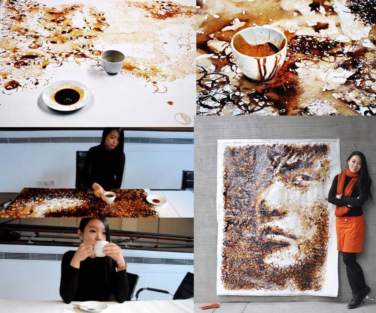 Resultado de imagen de arte de las manchas de cafe