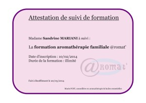 Formation huiles essentielles
