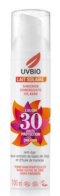 Crème solaire non toxique UV bio