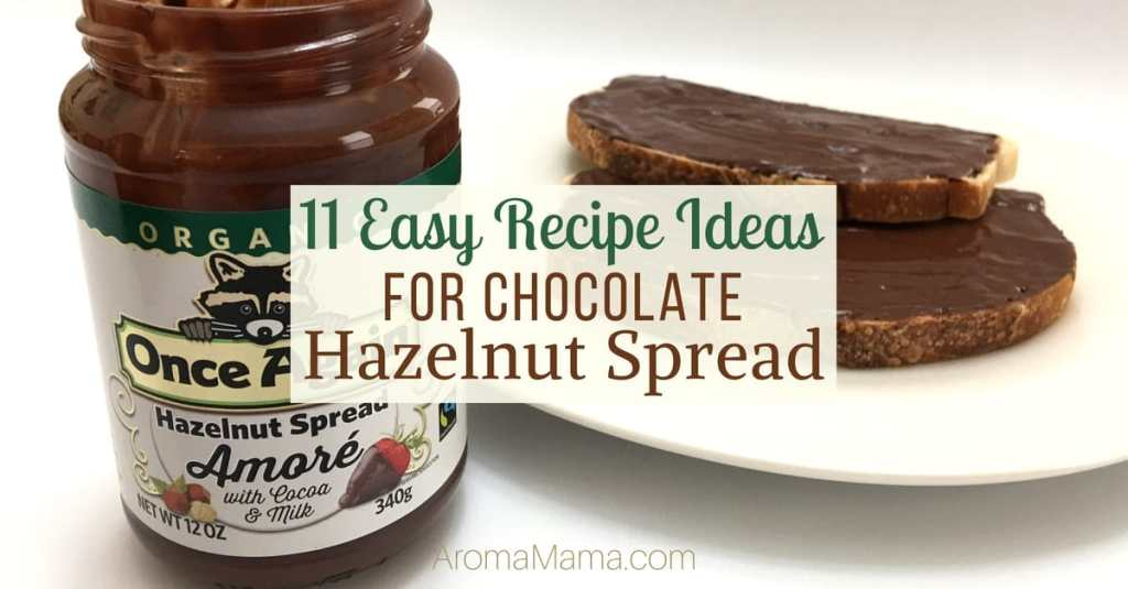Check out 11 easy recipe ideas for chocolate hazelnut spread. These recipes are great for a breakfast, snack, and dessert. Plus, learn about Once Again Organic Amoré Hazelnut Spread with Cocoa and Milk.