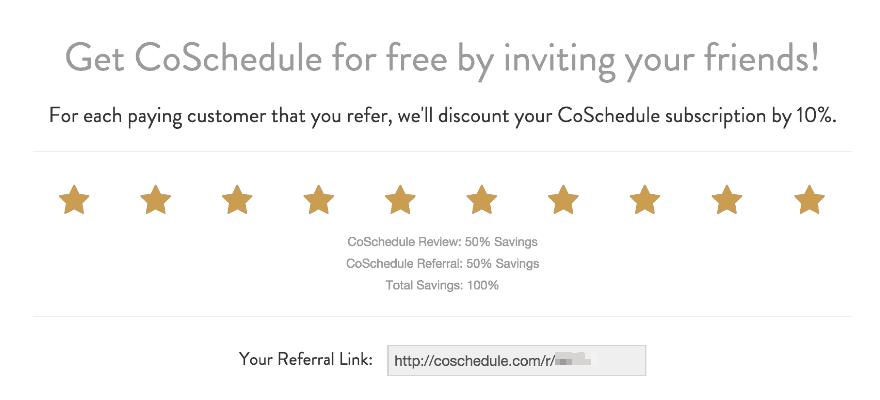 CoSchedule Referral Program