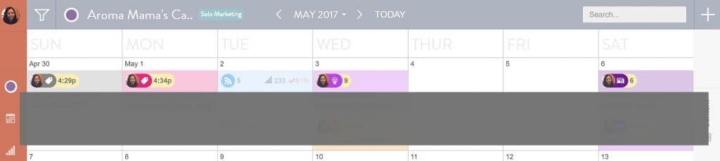 My CoSchedule calendar