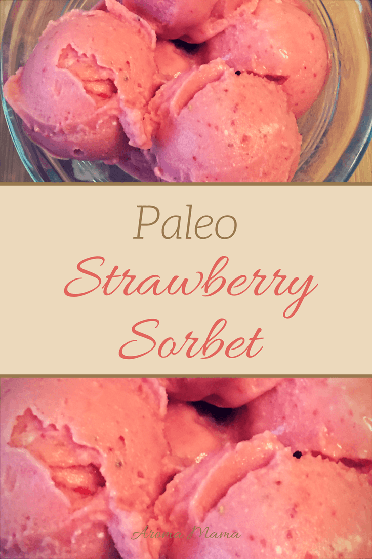 Paleo Strawberry Sorbet is a refreshing dessert that is very easy and quick to make. This is a healthy alternative to ice cream.