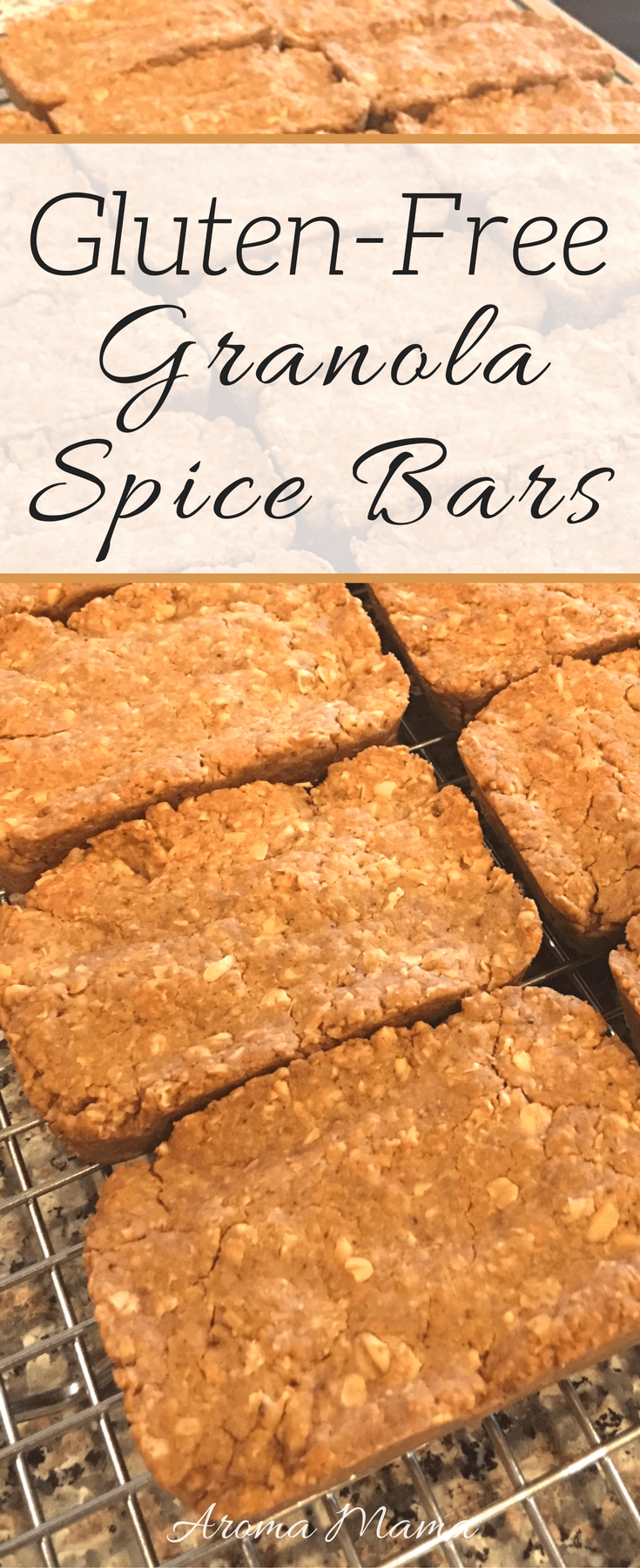 These gluten-free granola spice bars are great as a snack or as a dessert. They are easy to make and easy to pack for school or work.