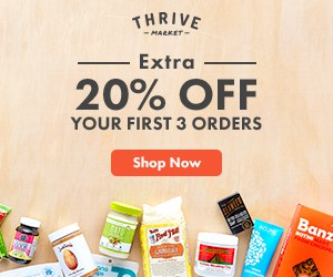 Thrive Market 20% off first 3 orders offer