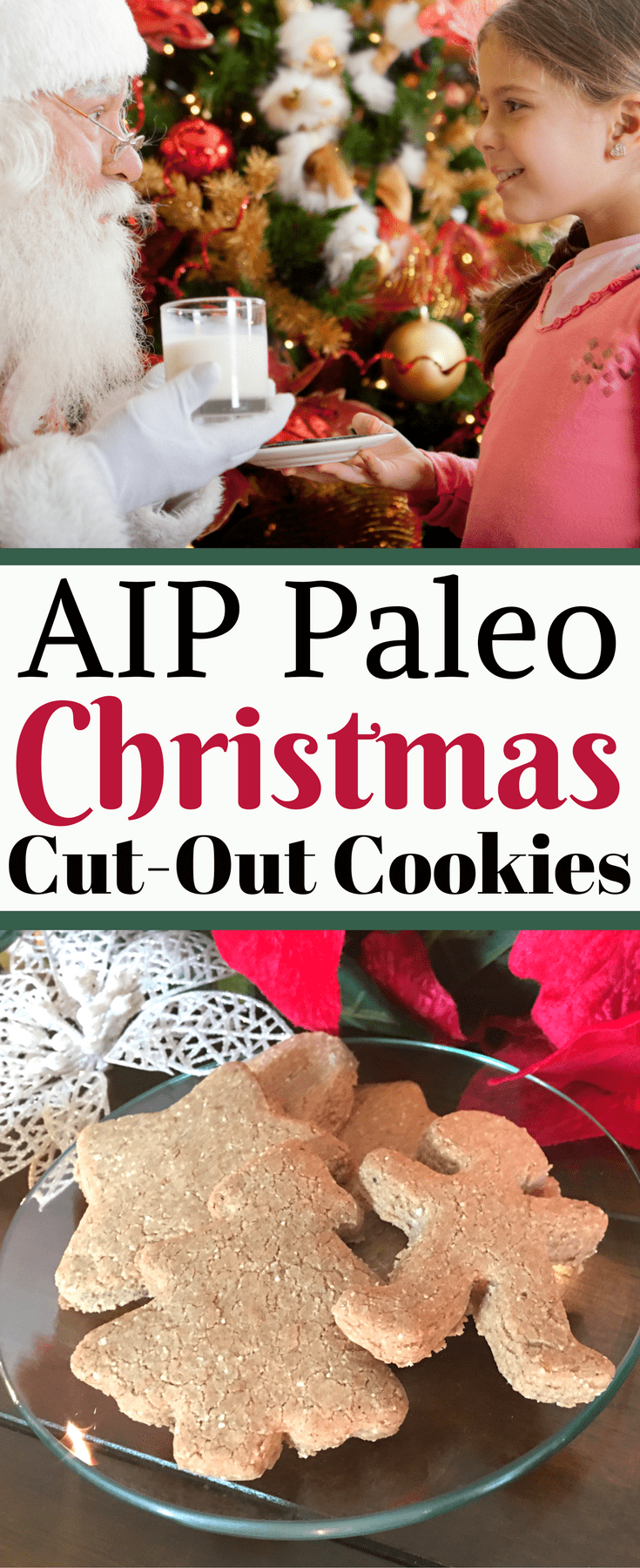 Autoimmune Paleo (AIP) approved Christmas Cut-Out Cookies are a great dessert to serve for family and holiday gatherings this winter, especially when you're unsure of food allergies at your gathering or party. It's a real treat that will be enjoyed by even the pickiest of eaters! This AIP cookie recipe is also Paleo, gluten-free, dairy-free, egg-free, soy-free, and refined sugar-free.