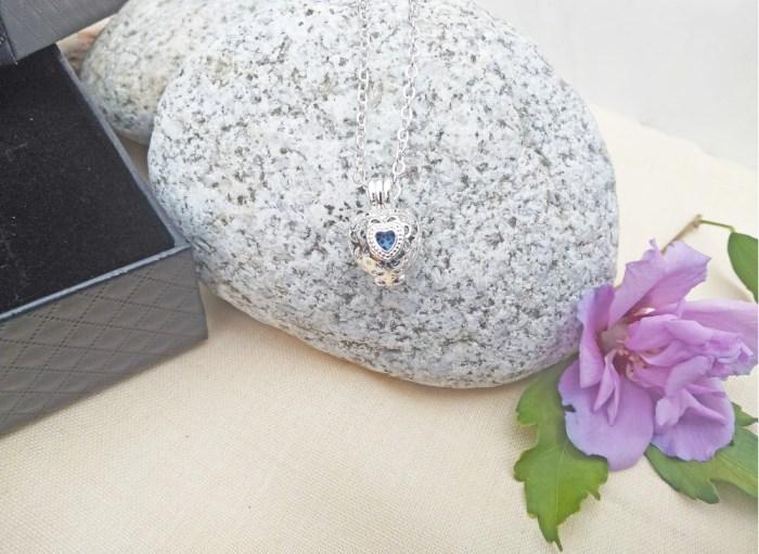 aroma šperk srdiečko postriebrený dekor 1
