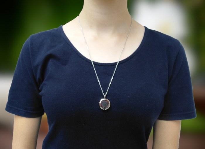 Aroma šperk mandala na karku