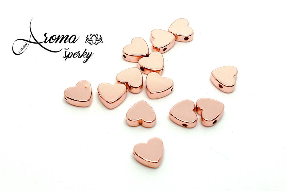 Hematit srdce ružové zlato