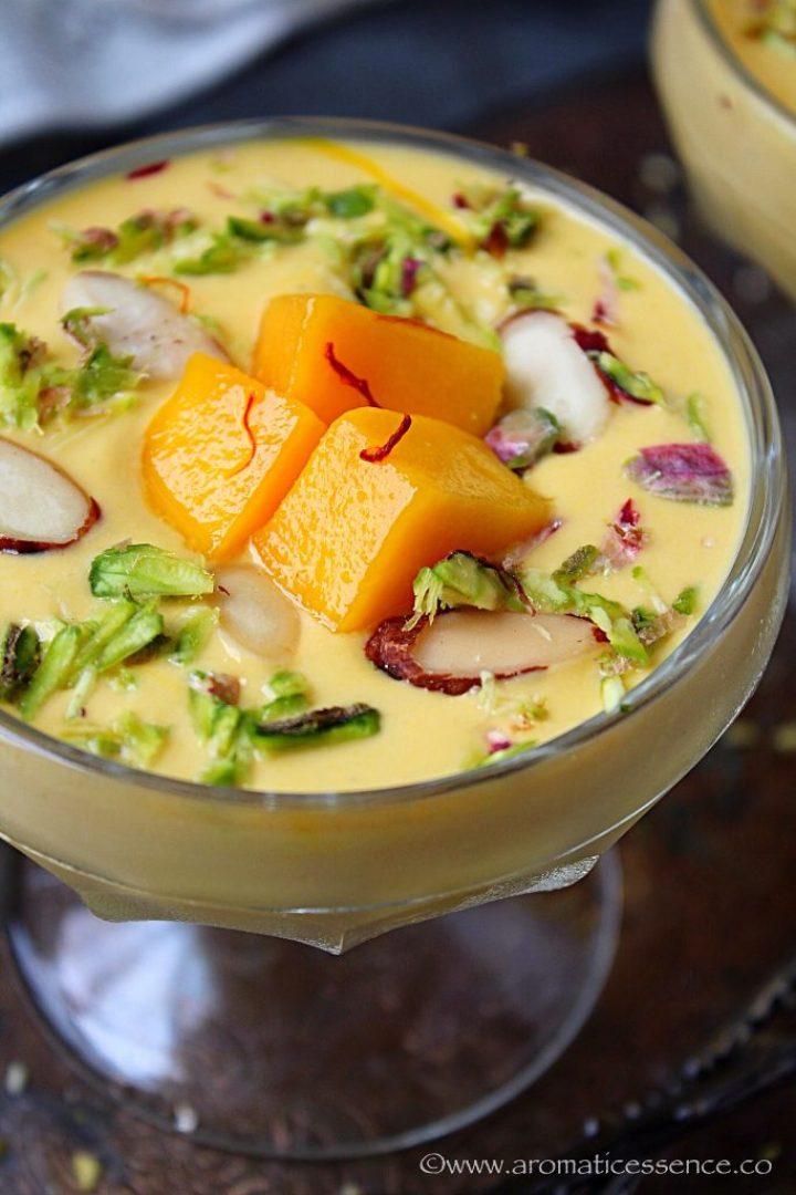 Instant Mango Shrikhand With Greek Yogurt | Aamrakhand