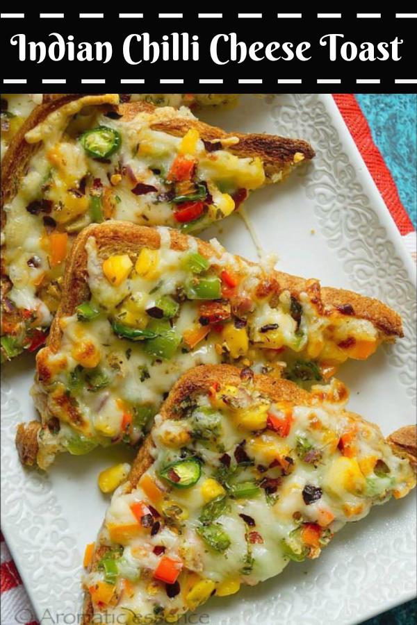 Chilli Cheese Toast | Veg Chilli Cheese Toast