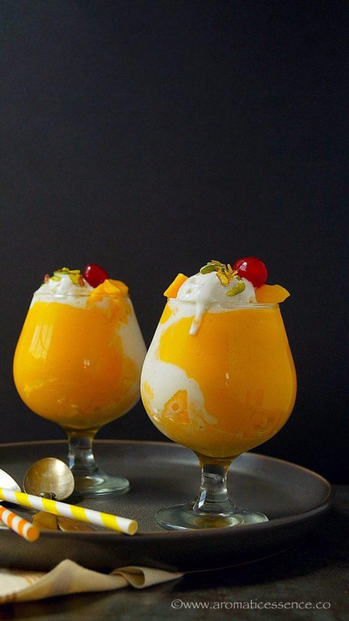 Pune's Mango Mastani | Thick Mango Milkshake With Ice Cream
