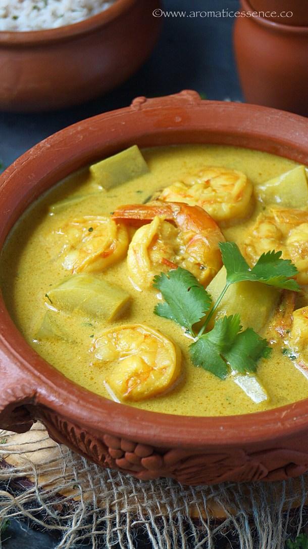Prawn Caldine   Prawn Curry With Coconut Milk (Goan Style)