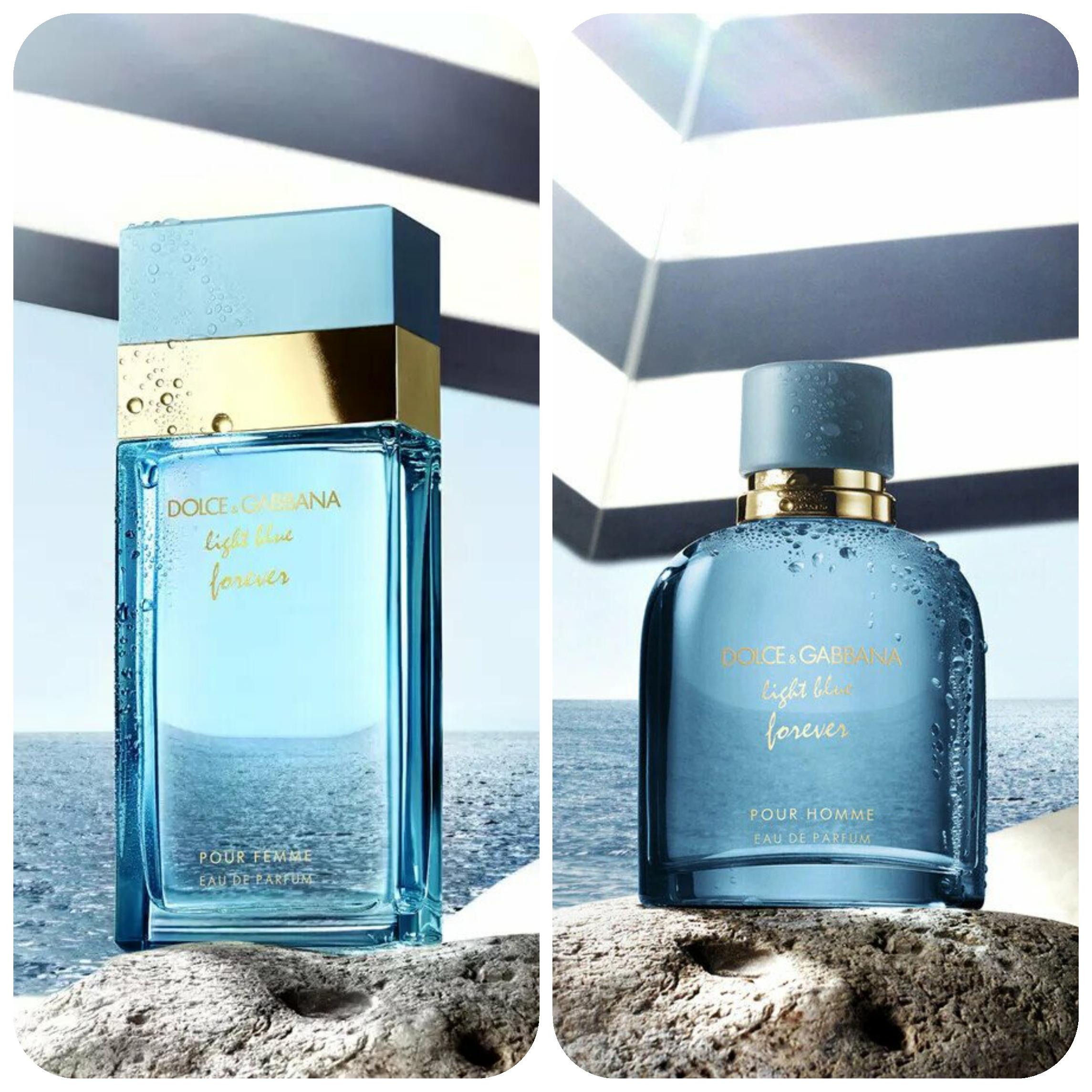 عطور دولتشي آند غابانا الجديدة لصيف 2021 Light Blue Forever Pour Homme and Pour Femma