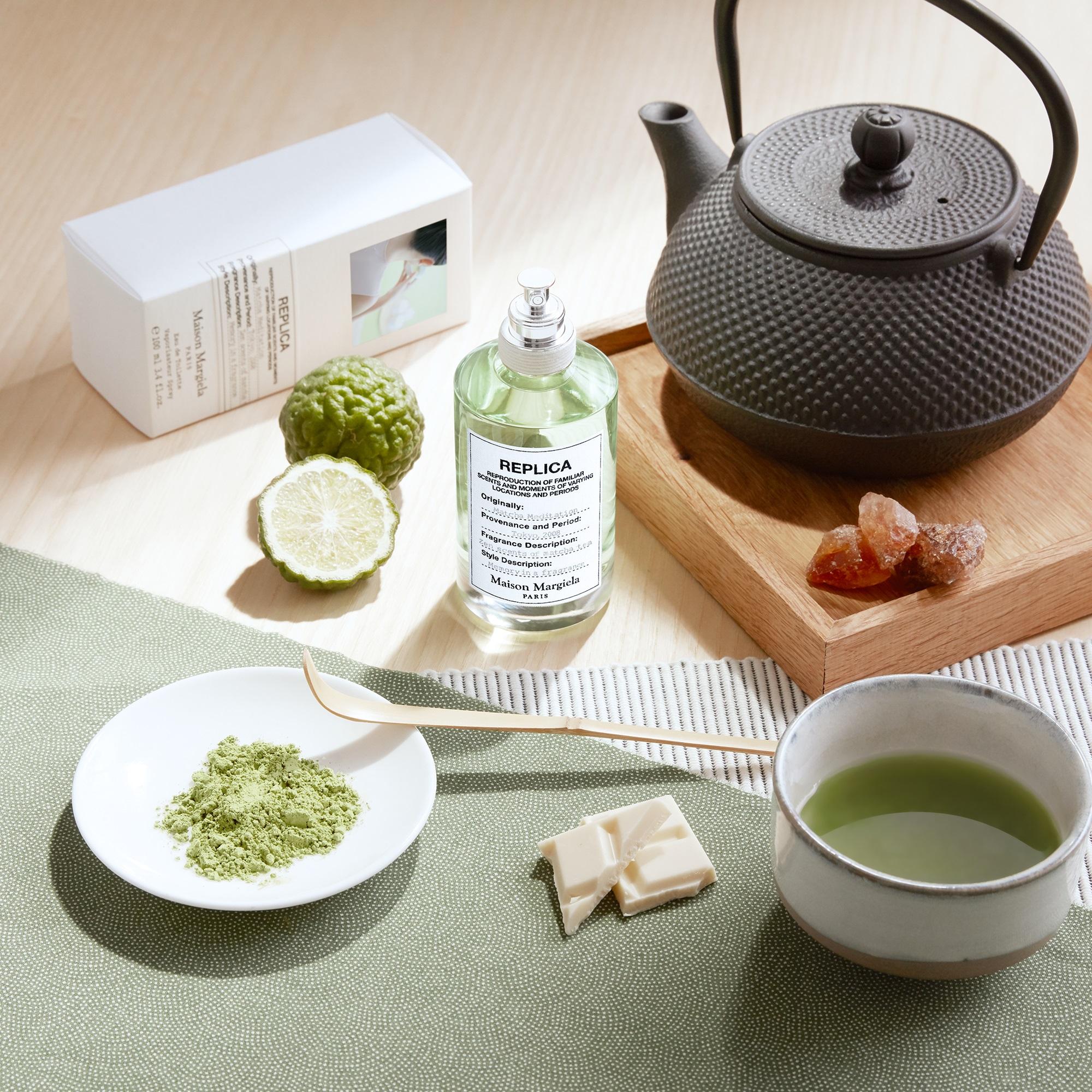 عطر شاي الماتشا في جلسة عطرية هادئة Matcha Meditation Maison Martin Margiela