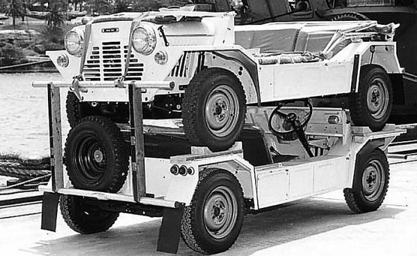 Mini Moke flat-packed for export. (Picture supplied by Graham Arnold.)
