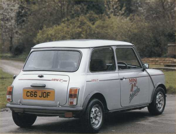 The Mini 25: introduced to celebrate the little car's twenty-fifth anniversay.