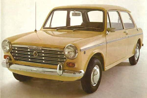 The original, 1968 US-specification Austin America in Chartreuse Yellow (above) and Riviera Blue (below).