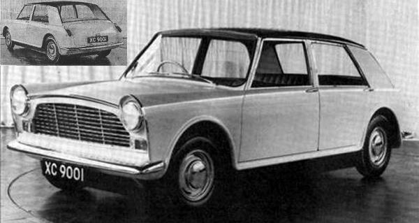 Following the success of their designs for the A55 Cambridge and A40, Pininfarina were commissioned to produce an alternative XC9001 proposal. This, their first effort dating from 1959, was effectively a scaled-up version of their contemporary proposal for the XC9002 project.