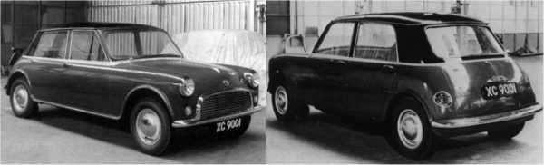 Once Mini development was all but finished, Issigonis turned his attention back to the larger car in 1958.  This version of the car was now called the XC9001 and following the work on the Mini, had now become  a front wheel drive car – styling still bore a similarity to the Mini/XC9000, but this was probably an  expression of Issigonis' design minimalism, rather than the desire to create a family resemblance  between the cars.