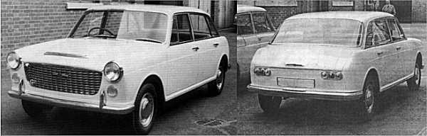 By June 1960, Pininfarina had produced this version of the (re-named) XC9005. The style is almost set  and it is very evident, that this is little more than a modified version of the 1958 in-house effort. Only  minor styling tweaks required now in order to imbue the car with some much needed character, in order  to distance it from the ADO16.