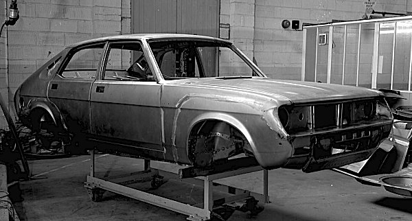 ADO77 body-in-white prototype shows how BL intended to extend the wheelbase and offer an exciting new body style.