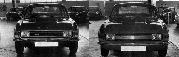 "Alternative frontal treatment for the Allegro GT model. Did the 1750 version (with a single carb) deserve the ""GT"" badge? Austin obviously thought not. The grille on this 1970 mock-up was solid because the intention was for the Allegro to have its radiator side mounted, like the Mini and ADO16."