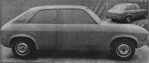 Full-size clay model from 1969 shows how the two- and four-door versions would look.