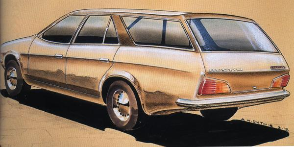 """1973 and there is already serious consideration being given to producing an ADO71 """"Countryman""""... well, serious enough to warrant this styling sketch."""